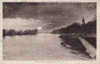 Saint Cyr sur Loire - Effet de lune sur la Loire côté St-Cyr.