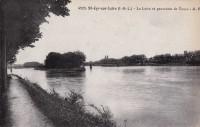 Saint Cyr sur Loire - La Loire et panorama de Tours.