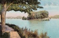 Saint Cyr sur Loire - Paysage sur la Loire, vers le pont de St-Cyr et l'île Simon.