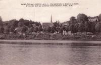 Saint Cyr sur Loire - Vue générale, le quai et la Loire à l'ancien gué qui autrefois reliait les deux rives.