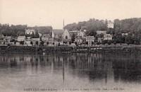 Saint Cyr sur Loire - La Loire, le bourg et l'église.