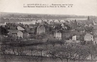 Saint Cyr sur Loire - Panorama sur la Loire - Les Maisons blanches et le pont de la Motte.