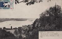 Saint Cyr sur Loire - Vue prise de La Péraudière : bourg de St-Cyr, la Loire, en amont du pont de la Motte.