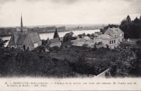 Saint Cyr sur Loire - L'église et la mairie, vue prise des coteaux.