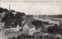 Saint Cyr sur Loire - Vue générale du bourg - La Loire, entre St-Cyr et Tours.