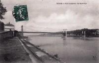 Saint Cyr sur Loire - Pont suspendu de Saint-Cyr.