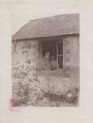 Saint Cyr sur Loire - La Béchellerie - Anatole France à la fenêtre du Fournil - Photographie originale prise par Jacques Lion le 30 juin 1923.