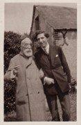 Saint Cyr sur Loire - Anatole France et Claude Aveline à La Béchellerie - Photographie originale juin 1923.