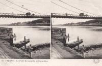 Saint Cyr sur Loire - Le pont Bonaparte et Saint-Cyr - carte stéréo.