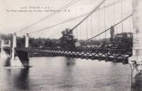 Saint Cyr sur Loire - Le pont suspendu sur la Loire, côté Saint-Cyr.