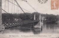 Saint Cyr sur Loire - Pont Suspendu et l'Ile Simon.