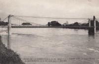 Saint Cyr sur Loire - Crues de la Loire - La Loire en aval du pont Bonaparte.