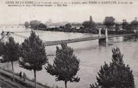 Saint Cyr sur Loire - Crues de la Loire - La Loire entre Tours et Saint-Cyr, l'île Simon inondée.