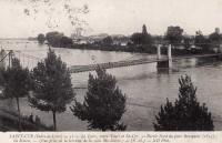 Saint Cyr sur Loire - La Loire entre Tours et St-Cyr - Pont Bonaparte, île Simon - Vue prise de la terrasse de la villa Ste-Marie.