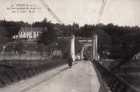 Saint Cyr sur Loire - Le pont suspendu de Saint-Cyr sur la Loire.