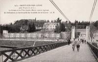 Saint Cyr sur Loire - Le coteau et la Villa Sainte-Marie, centre régional de rééducation professionnelle des Invalides de la Guerre.