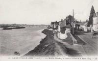 Saint Cyr sur Loire - Les Maisons Blanches, la Loire et le Pont de la Motte.
