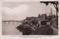 Saint Cyr sur Loire - Le Coq, les Maisons Blanches et le Pont de la Motte.