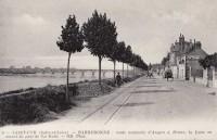 Saint Cyr sur Loire - Barberonne, route nationale d'Angers à Briare - La Loire en amont du pont de la Motte.