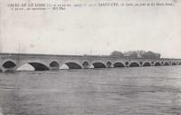 Saint Cyr sur Loire - Crues de la Loire - La Loire au Pont de la Motte.