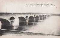 Saint Cyr sur Loire près Tours - Pont de Saint-Côme - Lignes du Mans et de Vendôme.