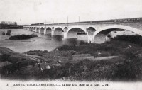 Saint Cyr sur Loire - Le Pont de la Motte sur la Loire.
