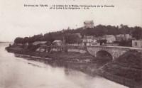 Saint Cyr sur Loire - Le coteau de la Motte, l'embouchure de la Choisille et la Loire à la Guignière.