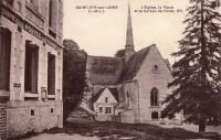 Saint Cyr sur Loire - L'église, la Place et le bureau de Poste.