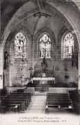 Saint Cyr sur Loire - Intérieur de l'église - Voûte de 1522 - Vitraux et Autel modernes.