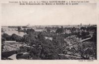 Saint Cyr sur Loire - Panorama de Tours, pris de la Villa Sainte-Marie, Ecole Professionnelle des Mutilés et Invalides de la guerre.