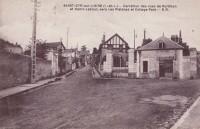 Saint Cyr sur Loire - Carrefour des rues de Portillon et Henri-Lebrun, vers Les Platanes et Cottage Parc.