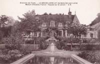Saint Cyr sur Loire - La Béchellerie - Maison d'Anatole France - Façade sur le jardin.