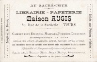 Saint Cyr sur Loire - Verso - Publicité pour la maison AUGIS (Editeur de cartes postales).