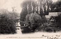 Saint Cyr sur Loire - Vue de la Choisille, prise du pont de la Motte.