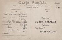 Saint Cyr sur Loire - Carte postale publicitaire - Monsieur De Rothmaler, apiculteur à La Carre.