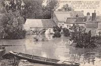 Saint Cyr sur Loire - Crues de la Loire - Autographe de France Darget.