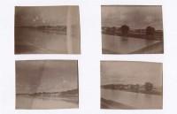 Saint Cyr sur Loire - 4 petites photographies anciennes (5 x 4 cm chacune).