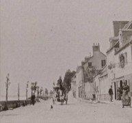 Saint Cyr sur Loire - Photo stéréoscopique - Route de Tours à Luynes - Détail (6,5 x 6,5 cm).