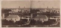 Saint Cyr sur Loire - Photo stéréoscopique - Vue de la ville de Tours prise des coteaux de St-Cyr (17 x 8 cm).