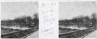 Saint Cyr sur Loire - Photo stéréoscopique sur plaque de verre (10,5 x 4,5 cm) - Hiver 1918 - Pont de fil de St-Cyr- 8 janvier 1918.