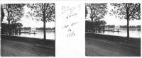 Saint Cyr sur Loire - Photo stéréoscopique sur plaque de verre (10,5 x 4,5 cm) - Vue sur la ville.