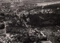 Saint Cyr sur Loire - Vue aérienne - Photographie ancienne - 12.6.1928 - 16 x 22 cm - Détail.