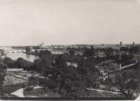 Saint Cyr sur Loire - Panorama pris de la Villa Sainte-Marie - Photographie ancienne (17,5 x 12,5 cm).