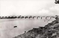 Saint Cyr sur Loire - La Loire au pont de la Motte - Viaduc de Saint-Côme.