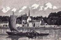 Saint Cyr sur Loire - Coteau et église de Saint Cyr sur Loire.