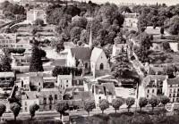Saint Cyr sur Loire - En avion au-dessus de - L'église et le quai de St-Cyr.
