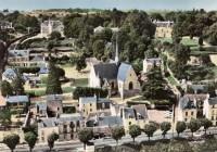 Saint Cyr sur Loire - En avion au-dessus de - L'église et le Quai de Saint-Cyr.