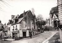 Saint Cyr sur Loire - Croisement de la RN 152 et de la route conduisant à la Béchellerie.