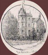 Saint Cyr sur Loire - La Tourelle, dessins à la plume de Marie-Madeleine DAMON-FOUQUEREAU, fille du peintre R. L. DAMON.