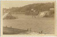 Saint-Cyr-sur-Loire - Destruction du pont de St Cyr, miné par les allemands le 22 août 1944 - photographie originale.